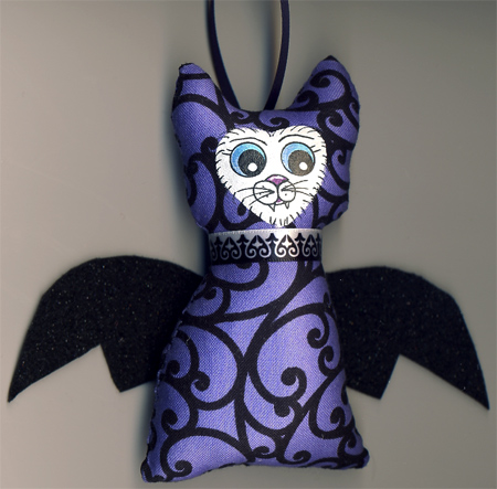 Gothic Bat Cat Ornament