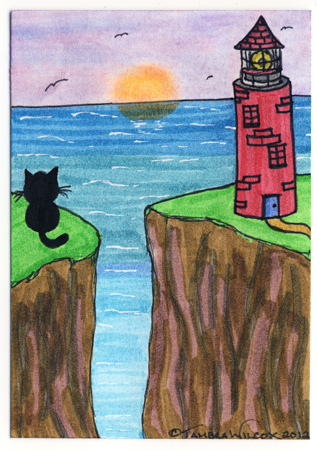 Cat and Lighthouse